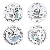 ABYstyle - Disney - Set de 4 Platos de Postre - Princesas