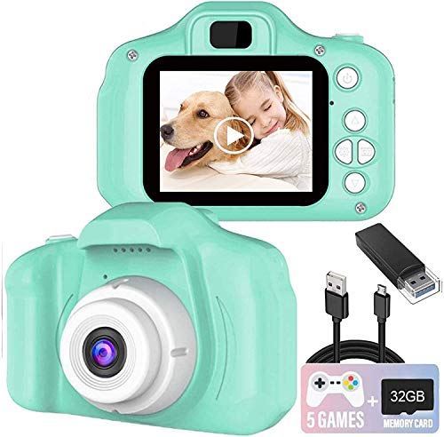 Kids Camera, 8.0 MP FHD Digital Video Recorder Shockproof...