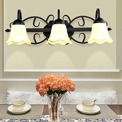Amerikaanse spiegel voorlamp toilet badkamer geleid Europese stijl spiegel kast lamp ijzer retro wandlamp kaptafel lamp