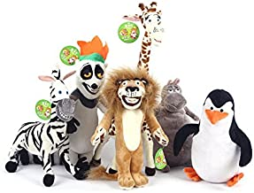HOT SALE MADAGASCAR CHARACTER TEAM CHARACTERS PLUSH TOYS ALEX GLORIA MARTY MELMAN PENGUIN JULIEN STUFFED TOYS BABY TOY KIDS GIFT