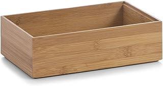 Zeller 13332 Boite de rangement en bambou, 23 x 15 x 7 cm