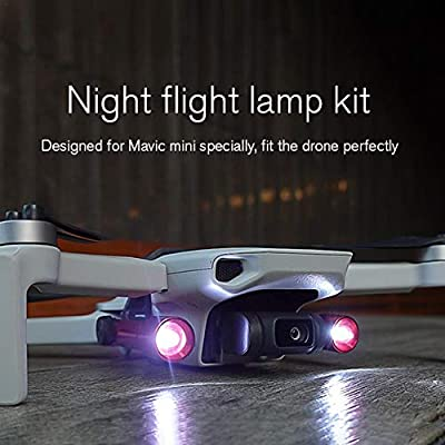 Banane Drone Strobe Light Drone Night Flights LED Fill Light Remote Control Drone Accessories LED Headlamp Searchlight Kit for DJI Mavic Mini rational