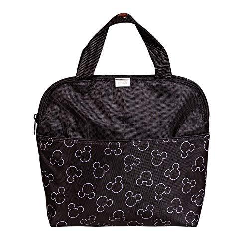 Disney Baby by J.L. Childress MaxiCOOL 4-Bottle Breastmilk Cooler, Baby Bottle & Baby Food Bag, Mickey Black