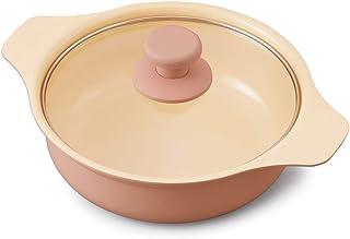 アイリスオーヤマ IHコンロ IHクッキングヒーター 用 鍋 &鍋ぶた セット 20cm IHKPーP20-P ピンク