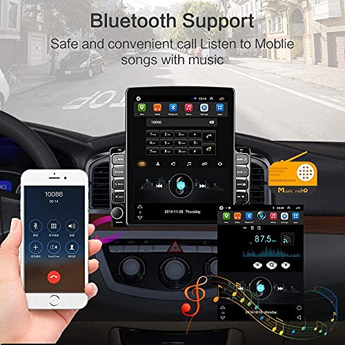Android Double Din Car Stereo 9.7'' Vertical Touchscreen Car Radio with GPS Navigation Bluetooth WiFi FM Radio DVR iOS/Android Mirror Link USB Car Audio Player + Backup Camera