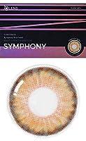 [2枚入り] シンフォニー3コン(Symphony 3con Hazel) by OLENS カラコン 1Month 1ヶ月 マンスリー 度あり度なし 14.0mm 全色選択可能 (ヘーゼル(HZ), PWR: -1.75)