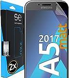 [2 Stück] Entspiegelte 3D Schutzfolien kompatibel mit Samsung Galaxy A5 (2017), hüllenfre&liche matte Bildschirmschutz-Folie, Schutz vor Dreck & Kratzern, kein Schutzglas - smart engineered