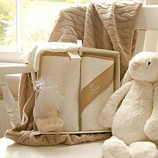 Cuddledry Newborn Baby Bath Gift Set Coffee Dot
