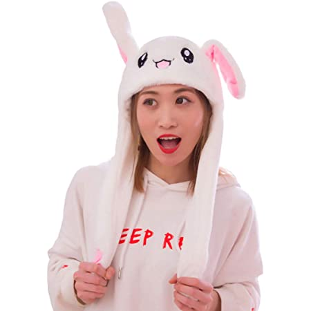 Elk Brown 9108TDCQ moving ears hat flappy funny plush animal hat easter adult cosplay elk ears mobile kids crazy bunny hat mobile ears Pokemon dancing bunny silly kid hat