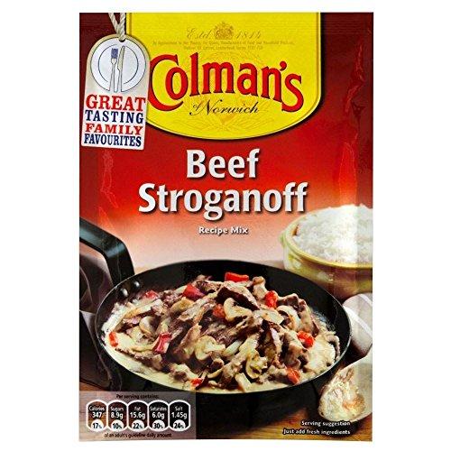 Colmans Beef Stroganoff Sauce Mix (39g) - Packung mit 6