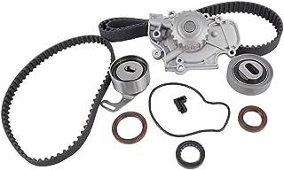 DNJ TBK219WP Timing Belt Kit with Water Pump for 1990-1997 / Honda, Isuzu/Accord, Oasis, Odyssey, Prelude / 2.2L / SOHC / L4 / 16V / 2156cc / F22A1, F22A4, F22A6, F22B2, F22B6