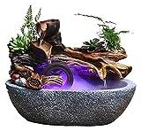 SYZHIWUJIA Fuente de mesa para salón, oficina, escritorio, fuente de rocosa, accesorios para regalos con atomizador de 32 x 20 x 24 fuentes de mesa fuente de escritorio