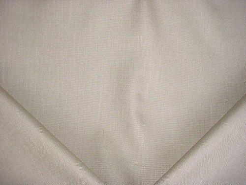 95RT5 - Silvery Beige Glazed Linen Basketweave Designer Upholstery Drapery Fabric - By the Yard