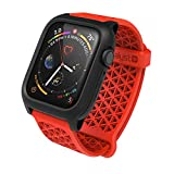 Catalyst Case for Apple Watch Series 5 and Series 4 44mm, Buckle, Drop Proof 9.9ft, Sport Band, Breathable, Rugged - Flame Red
