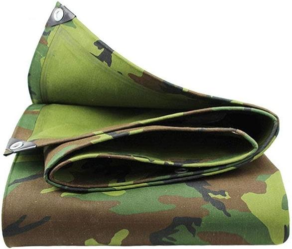 DJSMpb Baches Camo Tarps Heavy Duty Imperméable   Couverture de remorque de Tente de Sol   Grande bache en Plusieurs Tailles   19,4 oz m2 (Taille   3M×6M)