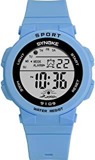 Fashion Girl Digital Watch, Timer Alarm Clock, Stopwatch, Light, Movement Watches Convenience (Color : Blue)