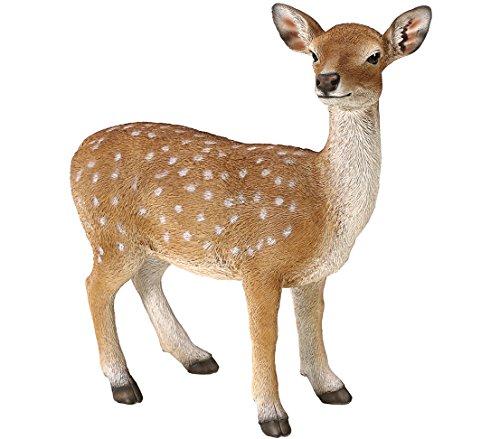 Dehner Dekofigur Bambi stehend, ca. 52 x 51 x 22 cm, Polyresin, braun