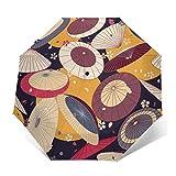 Paraguas japonesas tradicionales y flores de cerezo a prueba de viento compacto para mujeres y hombres paraguas plegable de viaje