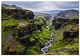 Panorama Póster Islandia Círculo Dorado 100 x 70 cm - Láminas Decorativas Pared - Impreso en Papel 250gr - Cuadros Paisajes - Póster Naturaleza - Cuadros Decoración Salón