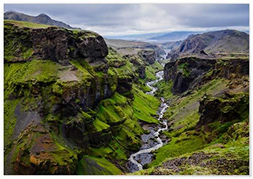 Panorama Póster Islandia Círculo Dorado 70 x 50 cm - Láminas Decorativas Pared - Impreso en Papel 250gr - Cuadros Paisajes - Póster Naturaleza - Cuadros Decoración Salón