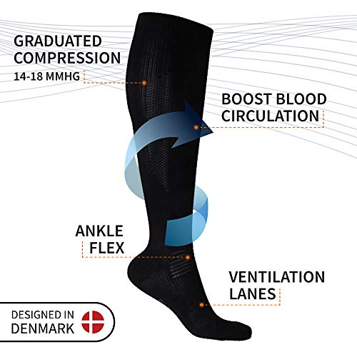 Graduated Compression Socks in Organic Cotton 3 Pack