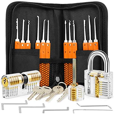 Professional 17 Piece Hook Set with 3 Locks Orange product image