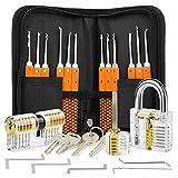3 Locks Repair with 17 PCS Multi-Functional Kit, Orange