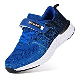 Zapatillas de Deporte para Niños Zapatillas de Correr Zapatos para Caminar al Aire Libre(YF64-Azul 27EU)
