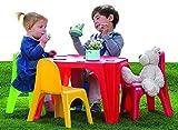 Table Pique-nique Avec 4 sedie De couleur Accessoire Jardin Pour les enfants
