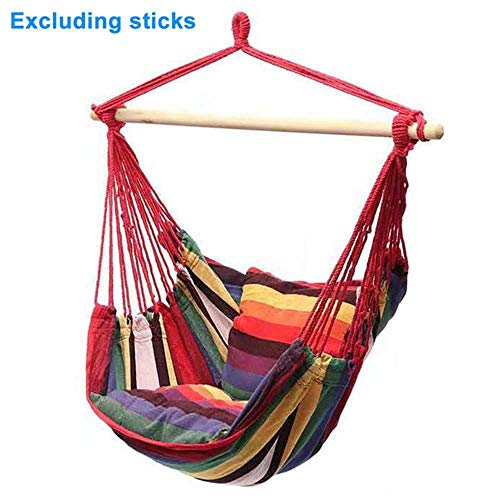 NOBRAND Relaxation Hanging Hammock Chair Travel Camping Home Garden Adults Kids Indoor Thickened Outdoor Swing Canvas With Cushion
