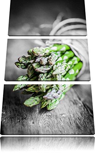 verse asperges gebondenFoto Canvas 3 deel | Maat: 120x80 cm | Wanddecoraties | Kunstdruk | Volledig gemonteerd