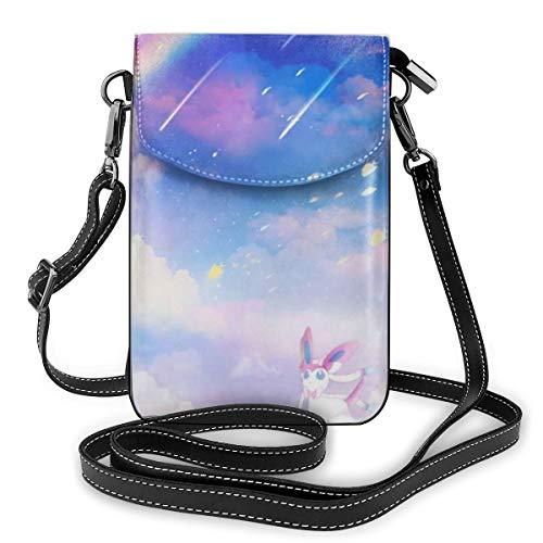 Eevee Under the Rainbow Lightweight Small Crossbody Bags Leather Cell Phone...