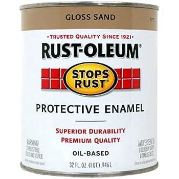 Rust-Oleum 7771502 Stops Rust, 32 oz. Quart, Gloss Sand
