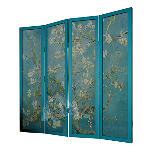 Sale!! Even Room Divider Screen,Restaurant Partition,Freestanding Room Apricot Blossom Decorative Partition,Scenery Unique Room Divider(Van Gogh)
