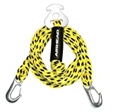 Airhead Watersports Heavy Duty Tow Harness | 4 Rider - 16 Feet, Yellow and Black, 192 inches