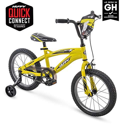 "Huffy Kid Bike, Moto X Yellow, Quick Connect, 16"""
