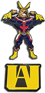 Great Eastern - My Hero Academia - All Might and U.A. High School Logo 2-Piece Pin Set, 2-Inches