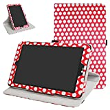 Mama Mouth 360 Grad Rotary mit Ständer Cute Muster Cover für 20,3 cm LG G Pad X II 8.0 Plus T-Mobile V530 Android 7.0 Tablet rot Polkadot Red
