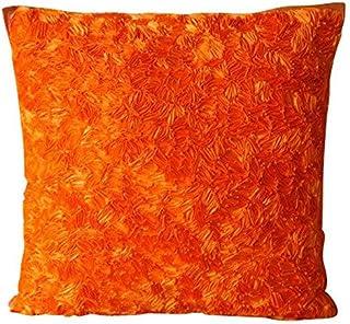 Luxe Orange Oreillers Accent, Résumé Ruban Texture Couverture D'Oreillers, oreiller jet couvre 50x50 cm, Solide Moderne Ho...