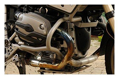 MotorbikeComponents, Paracilindri-paramotore tubolare in ferro verniciato Argento - BMW R 1200 Gs / Adventure 2007