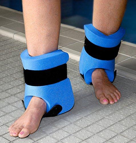 Sport-Thieme Beinschwimmer Paar in L oder XL | Für Aqua-Jogging, Aqua-Fitness | Max. Auftrieb u Robuster Schaumstoff + Klettbändern | Blau | Markenqualität