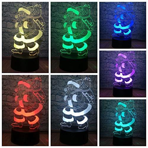 3D-Illusionslampe Neue 3D-LED-USB-Lampe Santa Model 7 Farbwechsel Schlafzimmer Nachtlicht Illusion Geschenk Frohe Weihnachten Home Decoration Requisiten Gadgets