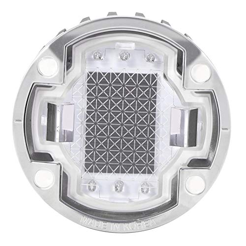 FOLOSAFENAR Lámpara de Seguridad para Entrada con energía Solar, luz de Piso para Exteriores, plástico para PC y Aluminio Fundido a presión para Patio, Calle Azul