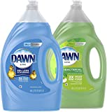 Ultra Dishwashing Liquid Dish Soap Original Scent & Ultra Antibacterial Hand Soap, Dishwashing...