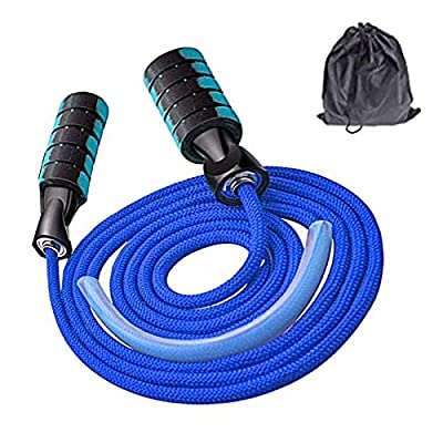Jump Rope,Professional Jump Rope Workout, Tangle-Free Ball Bearings Speed Skipping Rope Cable, Jumping Ropes with Memory Foam Ideal for for Cardio, Endurance Training (BLUE)