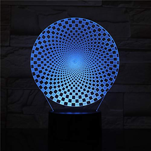 Abstrakte geometrische 7 Farben des 3D-Lichts, mit entferntem visuellen Lichteffekt, Kindergeschenk-LED-Nachtlichtatmosphäre