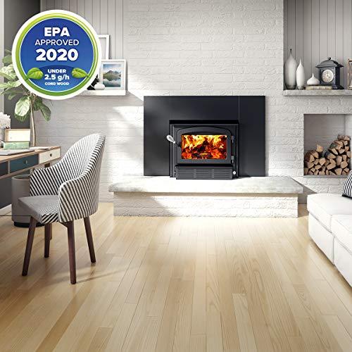 Drolet Escape 1500-I wood insert with faceplate - Medium 2020 EPA Certified Wood Insert - 65,000 BTU – 1,800 sq.ft., Model# DB03137