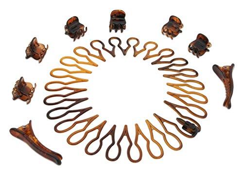 Zest 9 pièces Bandeau Peigne Pinces à cheveux et mini pinces Ensemble