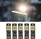 Yizhet 5 STK. USB Licht Schlüsselanhänger Super Hell 6 LED Touch Dimmer Tragbar für Laptop...