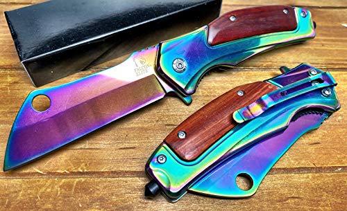 Super Knife Rescue Knife,Tactical Folding Pocket Knife for Tactical Rescue,Hunting, Camping flip...